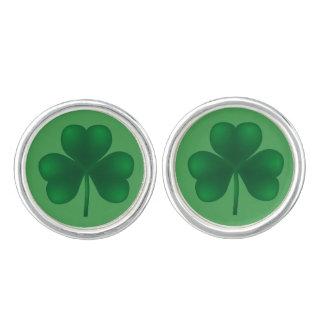 Irish Lucky Shamrock St Patricks Day Sticker Cufflinks