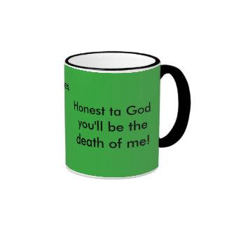 Irish mammy quotes mug