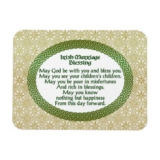 Irish Marriage Blessing, Gold & Green Wedding Magnet