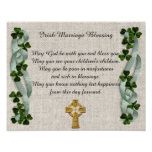 Irish Marriage blessing Poster