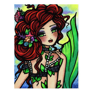 Irish Mermaid Fantasy Art Postcard by Hannah Lynn