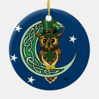 Irish Moon Ceramic Ornament