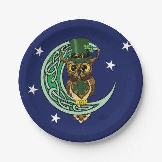 Irish Moon Paper Plate