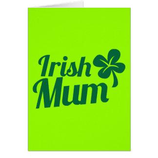 IRISH MUM ST Patricks Day design Note Card