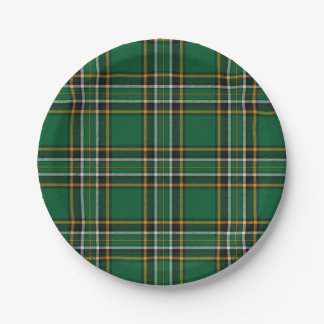 Irish National Plaid Paper Plate 7 Inch Paper Plate