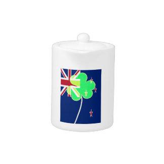 Irish New Zealand Flag Shamrock Clover St. Patrick
