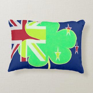 Irish New Zealand Flag Shamrock Clover St. Patrick Accent Pillow