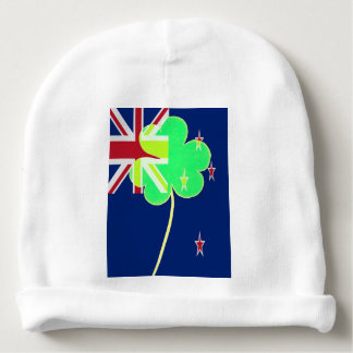 Irish New Zealand Flag Shamrock Clover St. Patrick Baby Beanie