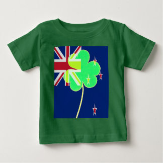 Irish New Zealand Flag Shamrock Clover St. Patrick Baby T-Shirt