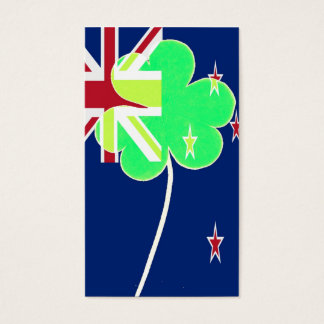 Irish New Zealand Flag Shamrock Clover St. Patrick Business Card