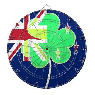 Irish New Zealand Flag Shamrock Clover St. Patrick Dart Boards