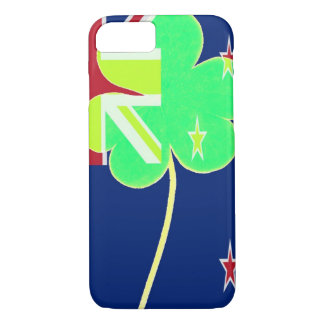 Irish New Zealand Flag Shamrock Clover St. Patrick iPhone 8/7 Case