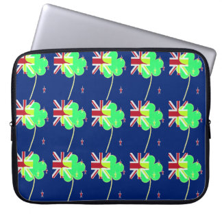 Irish New Zealand Flag Shamrock Clover St. Patrick Laptop Sleeve