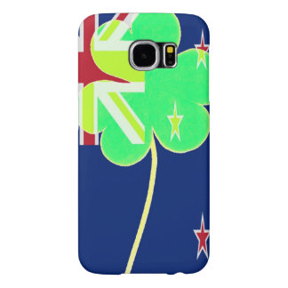 Irish New Zealand Flag Shamrock Clover St. Patrick Samsung Galaxy S6 Cases