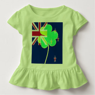 Irish New Zealand Flag Shamrock Clover St. Patrick Toddler T-shirt