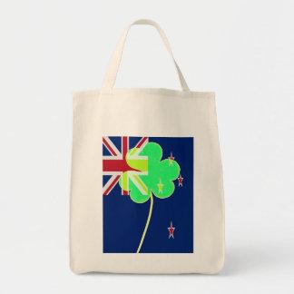 Irish New Zealand Flag Shamrock Clover St. Patrick Tote Bag