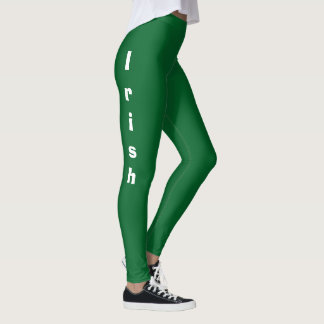 Irish on Side Leg St. Patty's Day 4Molly Leggings