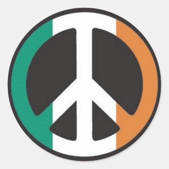 Irish Peace Classic Round Sticker