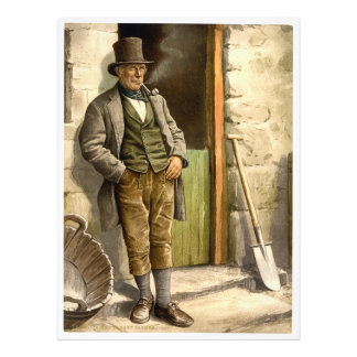 Irish Peasant Farmer 1890 Photographic Print