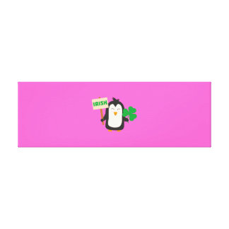 Irish Penguin with shamrock Zjib4 Canvas Print