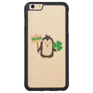 Irish Penguin with shamrock Zjib4 Carved Maple iPhone 6 Plus Bumper Case