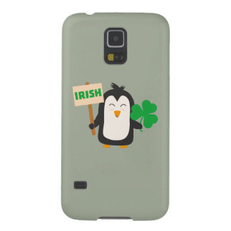 Irish Penguin with shamrock Zjib4 Cases For Galaxy S5