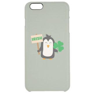 Irish Penguin with shamrock Zjib4 Clear iPhone 6 Plus Case