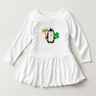 Irish Penguin with shamrock Zjib4 Dress