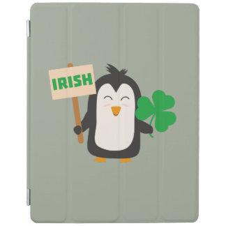 Irish Penguin with shamrock Zjib4 iPad Cover