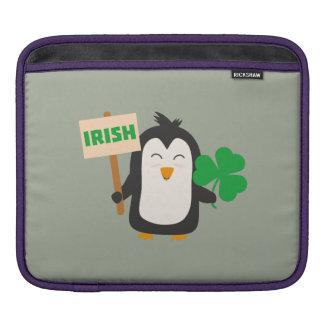 Irish Penguin with shamrock Zjib4 iPad Sleeve