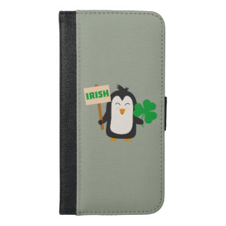 Irish Penguin with shamrock Zjib4 iPhone 6/6s Plus Wallet Case