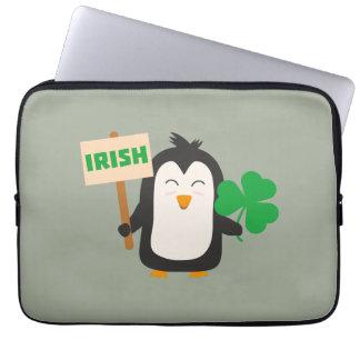 Irish Penguin with shamrock Zjib4 Laptop Sleeve