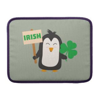 Irish Penguin with shamrock Zjib4 MacBook Sleeve