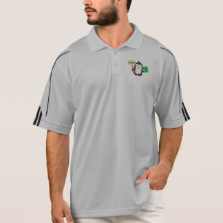 Irish Penguin with shamrock Zjib4 Polo Shirt
