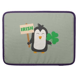 Irish Penguin with shamrock Zjib4 Sleeve For MacBook Pro