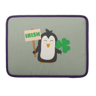 Irish Penguin with shamrock Zjib4 Sleeve For MacBooks