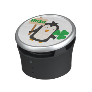 Irish Penguin with shamrock Zjib4 Speaker