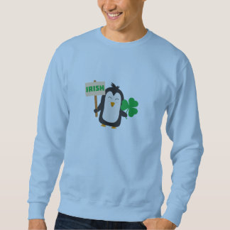 Irish Penguin with shamrock Zjib4 Sweatshirt