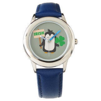 Irish Penguin with shamrock Zjib4 Watch