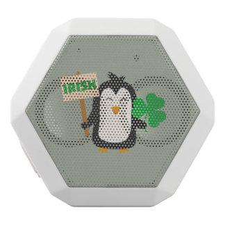 Irish Penguin with shamrock Zjib4 White Bluetooth Speaker