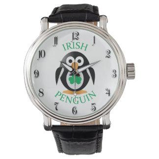 Irish penguin wristwatch