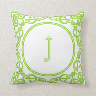 Irish Personalized Gifts Throw Pillows Letter J