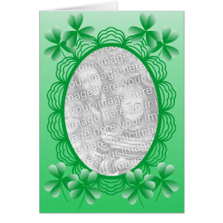 Irish Photo Frame Template Greeting Card