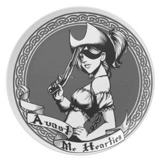 Irish Pirate Girl Dinner Plates