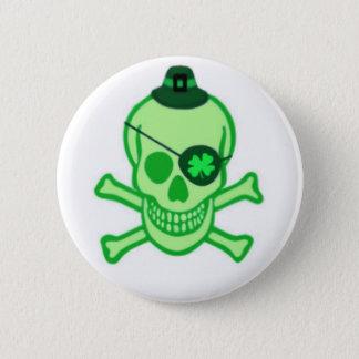 Irish Pirate Skull Button
