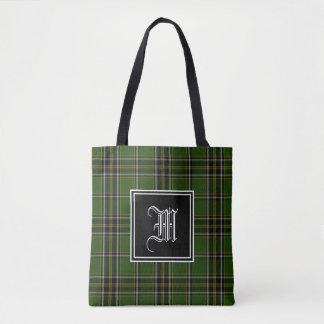 Irish Plaid Monogram Tote Bag