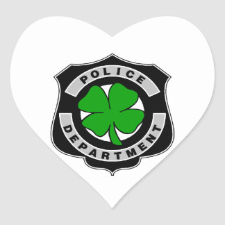 Irish Police Officers Heart Sticker