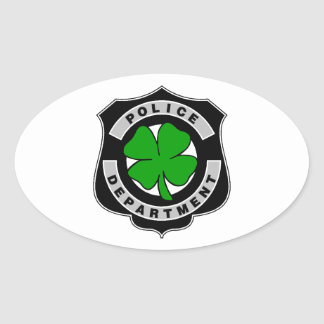 Irish Police Officers Oval Stickers