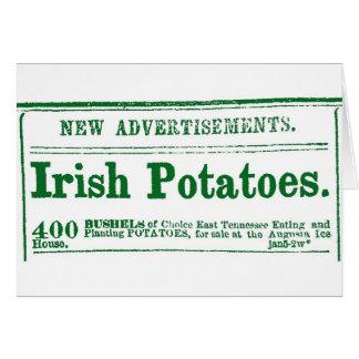Irish Potato Newspaper Advertisement Civil War era Card