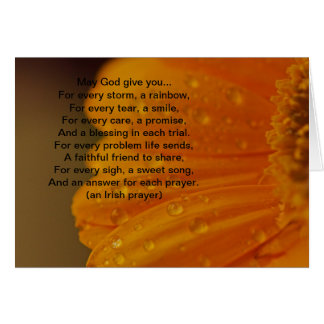 Irish Prayer All Purpose Greeting Card